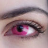 pink out colored lenses crazy lenses vibrant pink circle lenses halloween model @KV_KATERINAVLACHOU
