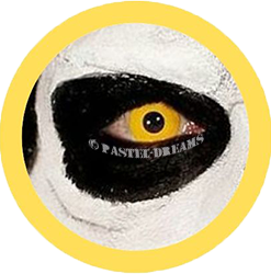 yellow out theatrical lenses, colored contact lenses cosplay lenses, circle lenses, colored contacts, costume lenses, halloween lenses