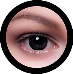 EOS g-325 mimi black colored lenses, colored contact lenses cosplay lenses, circle lenses, colored contacts, costume lenses