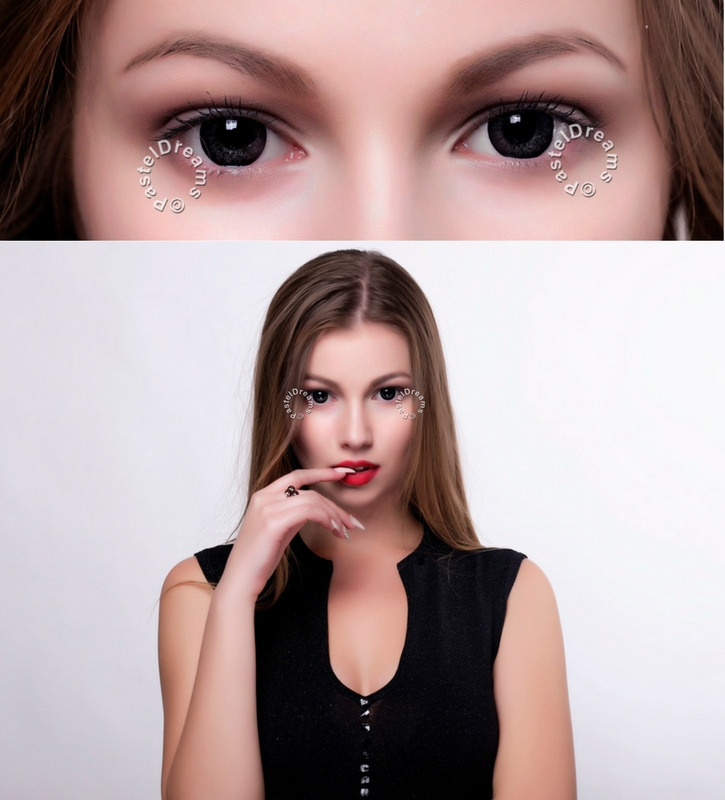 EOS g-325 mimi black colored lenses, colored contact lenses cosplay lenses, circle lenses, colored contacts, costume lenses