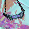 Angelic Heart necklace fairy kei kawaii accessories pastel lolita pastel goth, harajuku