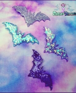 bat large hair clip in various colors handmade pastel goth fairy kei