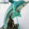 green irridescent mermaid tail kawaii fairykei pastelgoth grunge harajuku fashion resin hanc casted hand made necklace