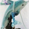 blue ombre mermaid tail kawaii fairykei pastelgoth grunge harajuku fashion resin hanc casted hand made necklace