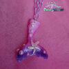 pink ombre mermaid tail kawaii fairykei pastelgoth grunge harajuku fashion resin hanc casted hand made necklace