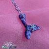 purple ombre mermaid tail kawaii fairykei pastelgoth grunge harajuku fashion resin hanc casted hand made necklace