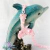 pink mermaid kawaii fairykei pastelgoth grunge harajuku fashion resin hanc casted hand made necklace