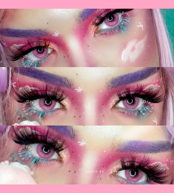 Freshtone super natural pink contact lenses cosplay lenses, circle lenses, colored contacts, costume lenses