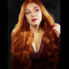 Lace front wig, ginger red, auburn, realistic wig,cosplay wig