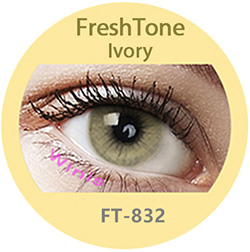 Super naturals ivory colored contact lenses by freshtone