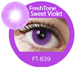 Super naturals sweet violet colored contact lenses by freshtone