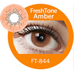 Super naturals amber colored contact lenses by freshtone