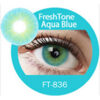Super naturals aqua blue colored contact lenses by freshtone