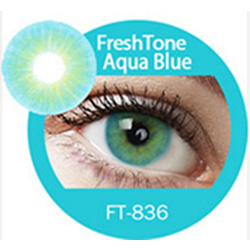 Super naturals aqua blue colored contact lenses by freshtone