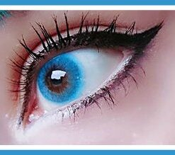 freshtone sky blue super naturals colored contact lenses, korean lenses, circle lenses