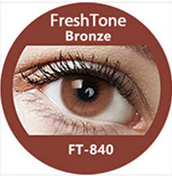 Super naturals bronze brown blue colored contact lenses by freshtone