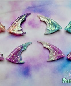 dragon bat glittery dual colour Wings  Hair Clips Fairy Kei