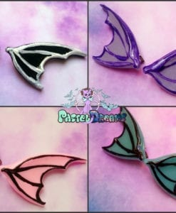 dragon bat Wings  Hair Clips Fairy Kei