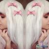 creepy cute eyeball wings hair clips handmade with resin fairykei pastel goth
