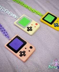 game boy controller necklace geeky