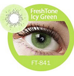 Super naturals icy green colored contact lenses by freshtone