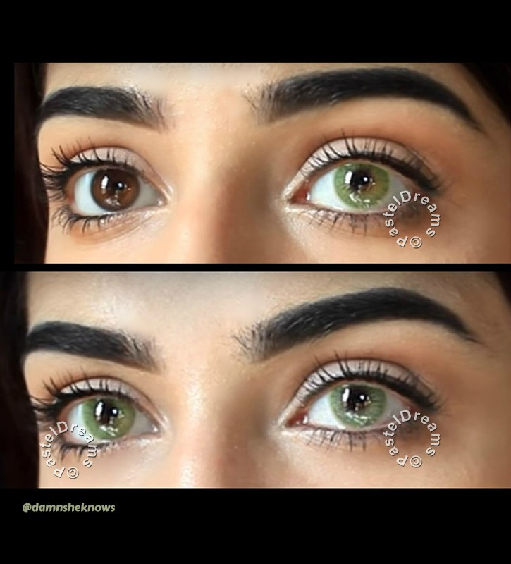 icy green freshtone super naturals colored contact lenses one tone natural model @damnsheknows