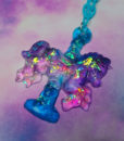 iridescent carousel horses necklace handmade by pastel-dreeams fairy kei pastel goth lolita accessories