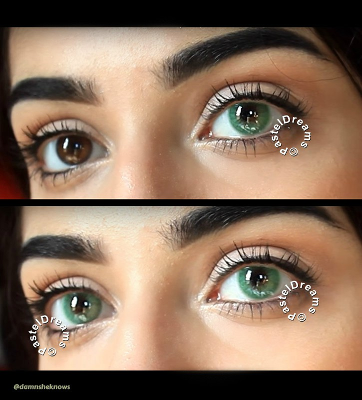 lime green freshtone super naturals colored contact lenses one tone natural model @damnsheknows