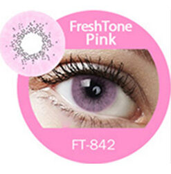 Super naturals pink colored contact lenses by freshtone