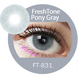 Super naturals Pony Gray colored contact lenses by freshtone