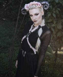 Sexy Pastel Goth witch Body Harness Leather Suspender Straps Belt Soft Grunge