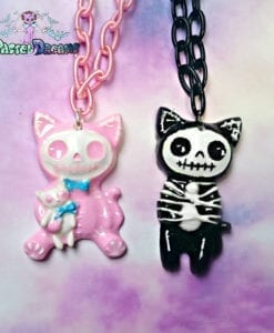 skelly animals creepy cute accessories handmade by pastel-dreams pastel goth