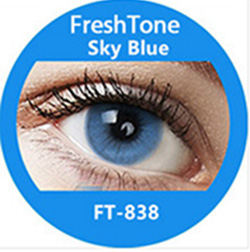 Super naturals sky Blue colored contact lenses by freshtone
