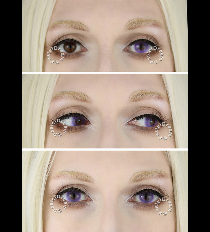 Super naturals sweet violet colored contact lenses by freshtone, natural look, freshlook, vibrant lenses, colored contacts