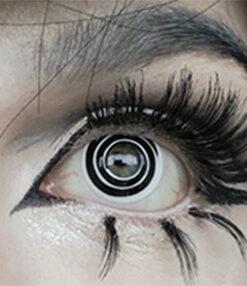 swirl colored contact lenses crazy halloween lenses model @trashiiie