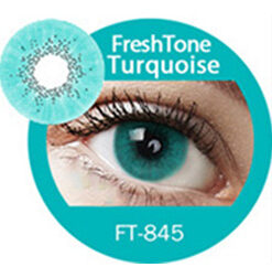 Super naturals turquoise colored contact lenses by freshtone