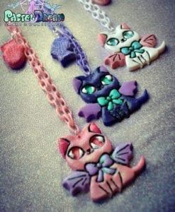 vampire kitty cat necklace