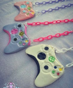 xbox controllers necklace geeky