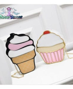 Funny Ice Cream Cake Bag Small Crossbody Bags For Women Cute Purse Handbags Chain Messenger Bag