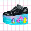 iron fist creatures of the night platform flatform trainers my little sea pony retro hand painted in ombre pastel colors nugoth kawaii harajuku