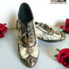 steampunk post apocalyptic flat dance shoes custom pastel dreams compass pattern mad max inspired