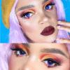 EOS dark 223 violet purple colored contact lenses, cosplay lenses, costume, enlargement lenses, halloween lenses, cosplay contact lenses