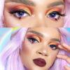 dark 223 violet purple colored contact lenses, cosplay lenses, costume, enlargement lenses, halloween lenses, cosplay contact lenses