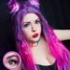 EOS super neon 209 pink colored contact lenses cosplay lenses, circle lenses, colored contacts, costume lenses