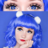 OS fancy f20 royal blue theatrical lenses, colored contact lenses cosplay lenses, circle lenses, colored contacts, costume lenses