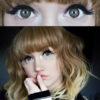 G-321 EOS Brown colored contact lenses 3tone, Circle lenses dolly eyes, big eyes