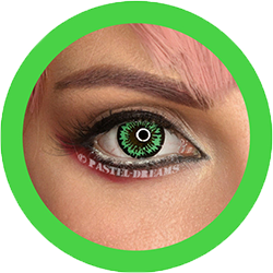 EOS fancy f22 neon green fancy theatrical lenses, colored contact lenses cosplay lenses, circle lenses, colored contacts, costume lenses