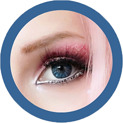 EOS Baron blue colored lenses, colored contact lenses cosplay lenses, circle lenses, colored contacts, costume lenses