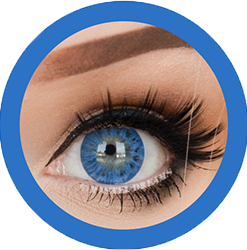 EOS 223 dark blue colored contact lenses cosplay lenses, circle lenses, colored contacts, costume lenses
