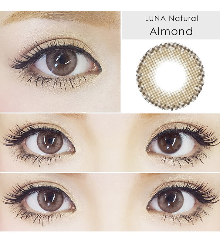 Luna Natural Almond brown colored contact lenses cosplay lenses, circle lenses, colored contacts, costume lenses, natural lenses